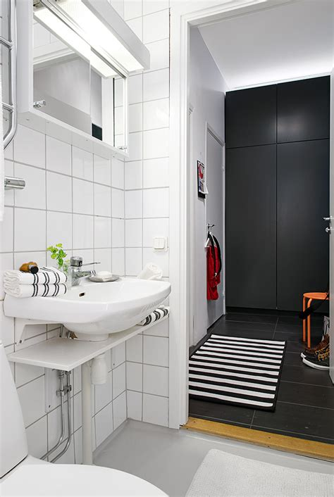 modern black and white bathroom ideas swedish apartment boasts exciting mix of old and new