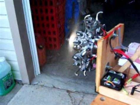 seidel   radial rc engine test stand run youtube