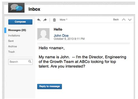 inmail template 7 inmails these recruiters wished they d never sent