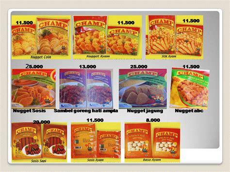 jual sosis harga murah bogor oleh pt tina frozen foods