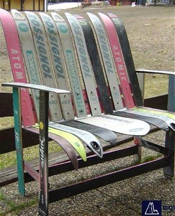 Ski Sofa by Upcycled Ski Sofa Recycle Upcycle Re Purpose