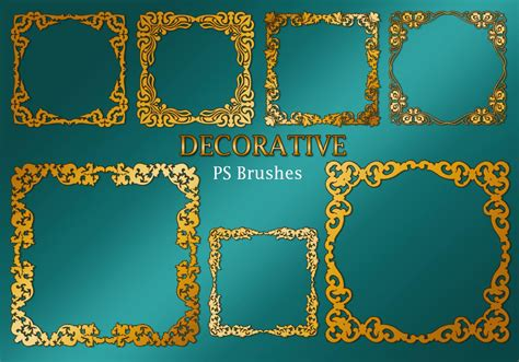 decorative border in photoshop 20 decorative border ps brushes abr vol 2 free
