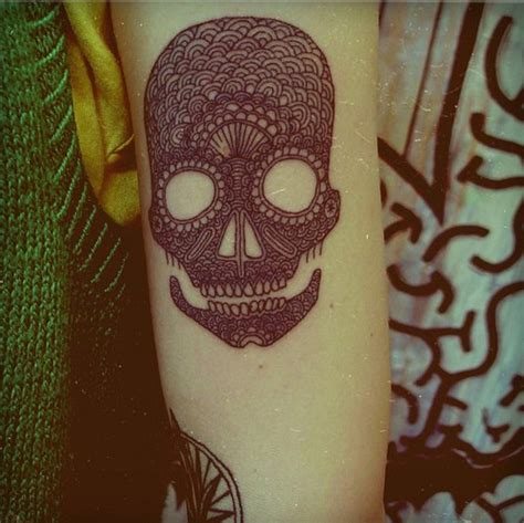 pattern head tattoo skull tattoos october s skull of the month