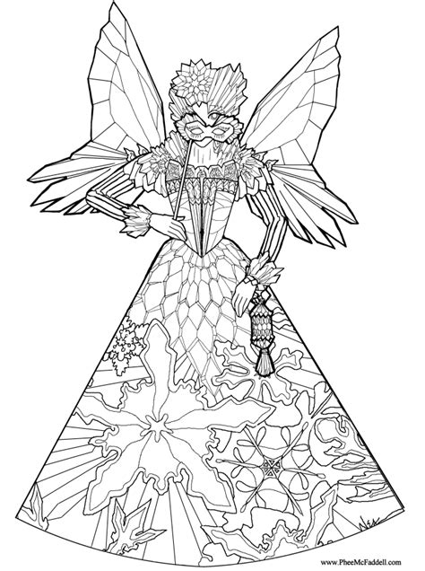 ice fairy princess coloring page