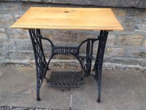 Old Sewing Table Industrial Chic Vintage Cast Iron Singer Sewing Machine