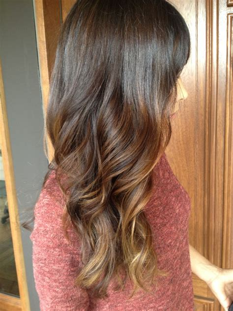 how long take for balayage long brunette curls with face framing caramel balayage