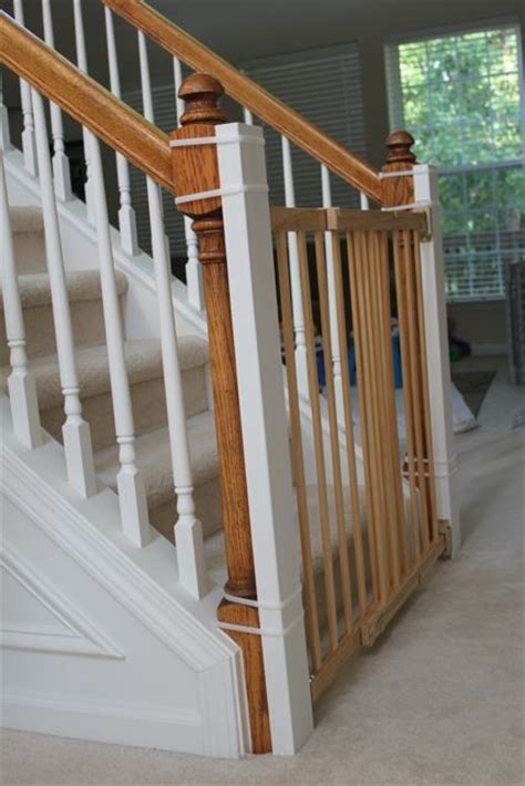 Stair Gates For Banisters 17 Best Ideas About Diy Gate On Pinterest Diy Baby Gate