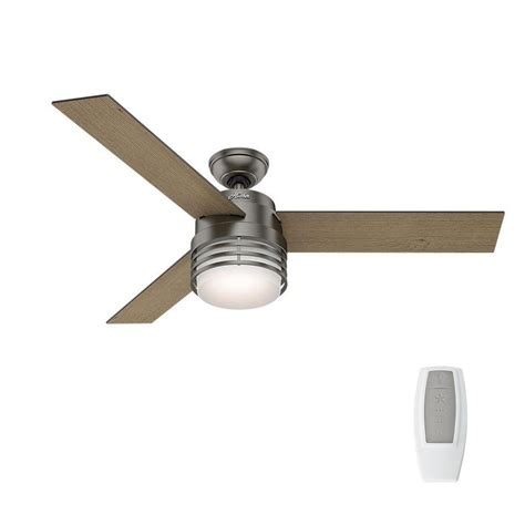 hunter avia 54 led indoor ceiling fan hunter mayford 54 in led indoor brushed slate ceiling fan