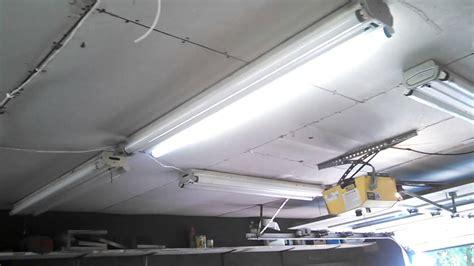 Installing Fluorescent Light Fixtures Installing Antique Louvered Preheat Fluorescent Lights In My S Garage Part 2
