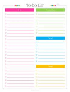 daily to do checklist with categories pdf planner list