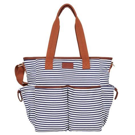 Laris Zada Weekender Bag Navy 1 weekender tote bag navy white hip cub