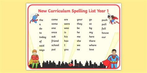 other terms for new year themed spelling list year 1 word mat