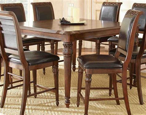Counter Height Kitchen Table Sets Discount Steve Silver Alberta 58 215 40 Rectangular Counter Height Table Buy At Efurnituremart