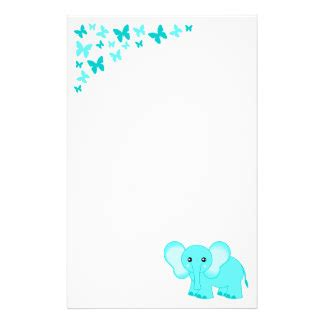 baby letterhead paper baby shower stationery zazzle