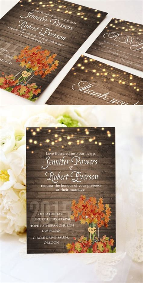 Cheap Fall Wedding Invitations by Fall In With These 50 Great Fall Wedding Ideas