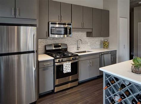slate grey kitchen cabinets fully equipped kitchens with stainless steel ge energy