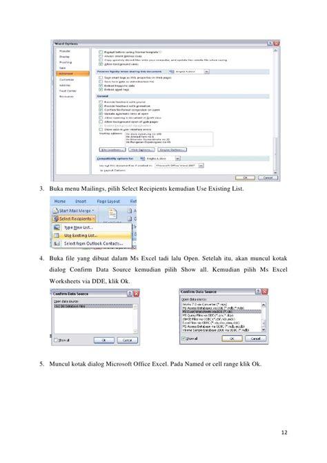 makalah format cell mail merge makalah tik