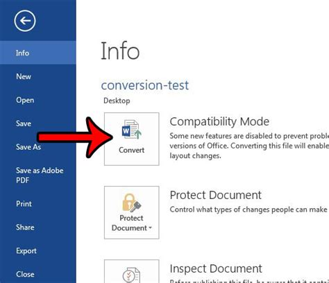 file format converter office 2013 how to convert a compatibility mode document in word 2013