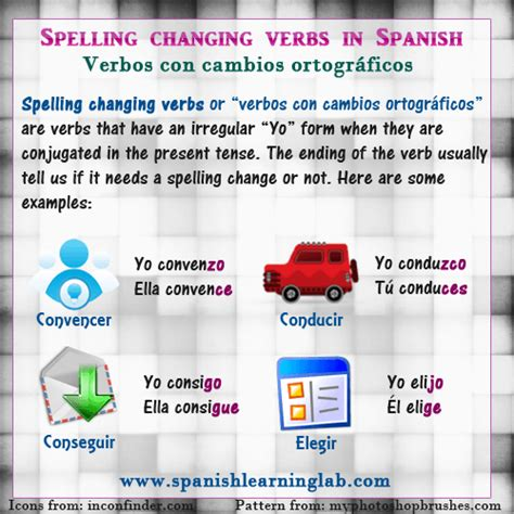 verb pattern discuss spanish spelling changing verbs in sentences