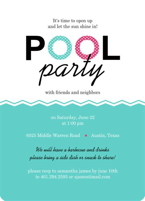 Free Pool Party Invitation Template Cimvitation Pool Invitations Templates Free