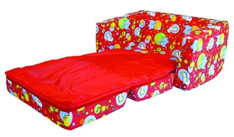 kids flip out sofa bed with sleeping bag 2 seater sit n sleep with sleeping bag open studio by