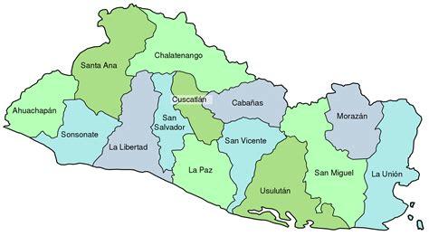 el salvador el salvador mapa de las provincias