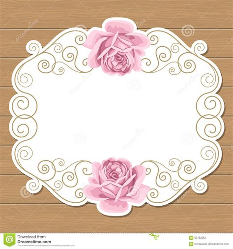 template undangan shabby chic wood background with roses stock vector image of antique