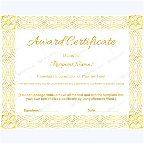 99 Best Award Certificate Templates Images On Pinterest Certificate Templates Education Award Templates Microsoft Word