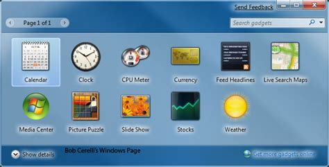 windows7 gadgets