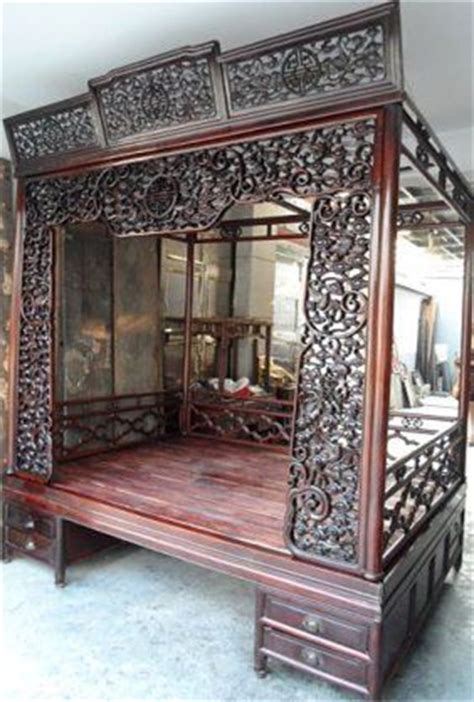 Farah Canopy Antique Bed 6 exquisite antique rosewood carved canopy bed antiques antiques beds and
