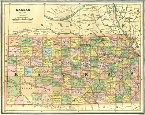kansas county map historical city county and state maps of kansas