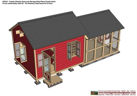Poultry Shed Plans by Sntila Cb210 Combo Plans Chicken Coop Plans Construction