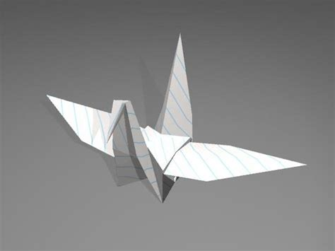 3d Origami Crane - 3d origami crane model