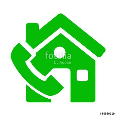 telefono casa quot icono casa con simbolo telefono verde quot fotos de archivo e