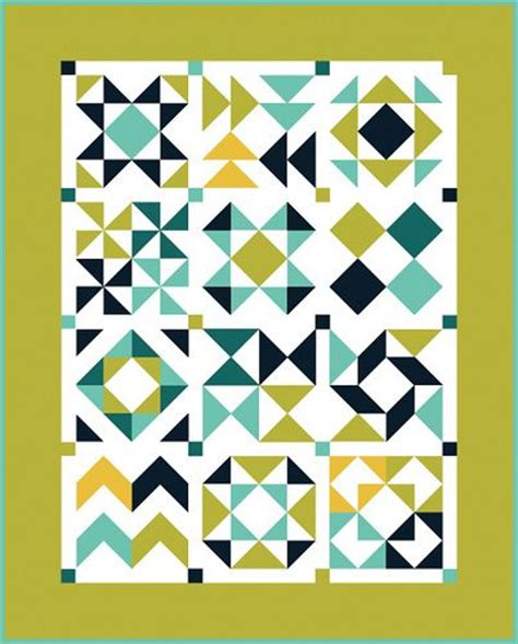 black and white hst quilt pattern in color order hst block of the month finishing and