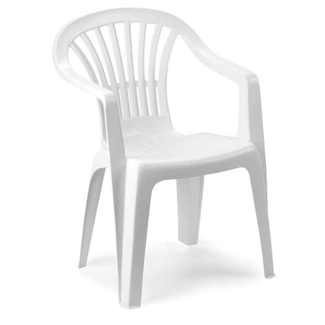 sedie da giardino sedia da giardino plastica altea schienale basso