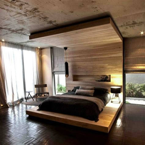 moderne betten aus holz himmelbett aus holz die spektakul 228 rsten ideen