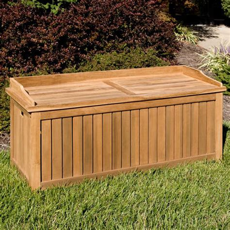 Outdoor Bench With Storage Jakie 4 Ft Teak Outdoor Storage Bench Outdoor