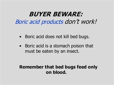 does boric acid kill bed bugs dealing w bed bugs