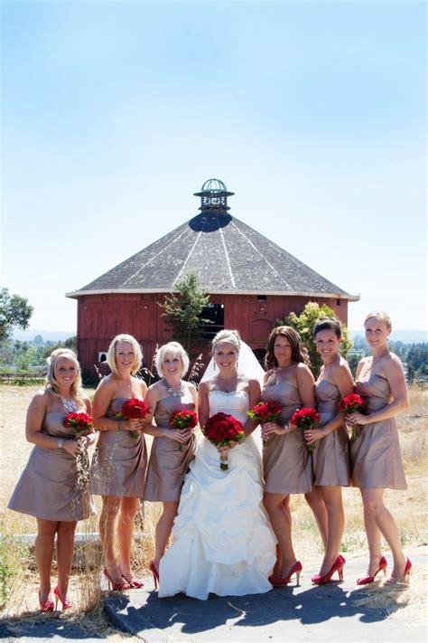 red themed wedding rustic wedding chic