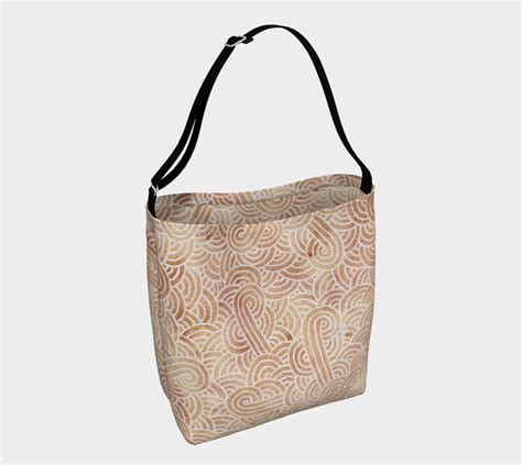 Day Kopi White Cappucinno Bag iced coffee and white swirls doodles day tote day tote by savousepate shop of where