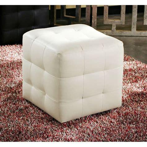 diamond tufted ottoman diamond sofa zen leather tufted cube accent ottoman in