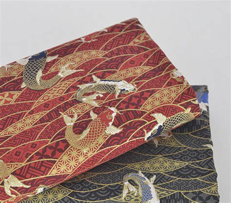koi carp and water ripple cotton linen fabric home decor