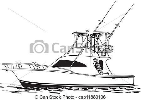 small fishing boat drawing clipart vecteur de sport peche bateau mer sport