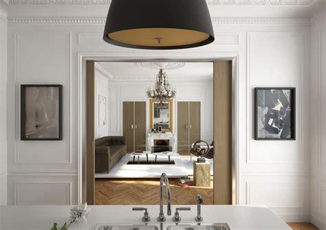 Incroyable Separation Entre Cuisine Et Salon #4: 09-Apt-haussmann_vue-salon_porte-coulissante-galandage_Sogal.jpg