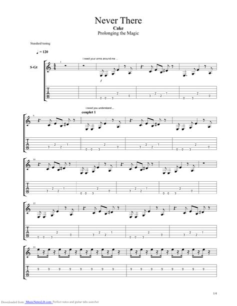 comfort eagle chords never there guitar pro tab by cake musicnoteslib com