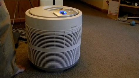 honeywell    pure hepa  air purifier  month   update cleaning video youtube