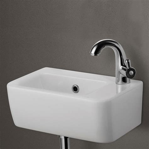 wall mounted sinks for small bathrooms alfi brand ab101 small white wall mounted ceramic bathroom
