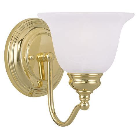 Bathroom Light Fixtures Brass 1 Light Livex Essex Polished Brass Bathroom Vanity Lighting Wall Fixture 1351 02 Ebay