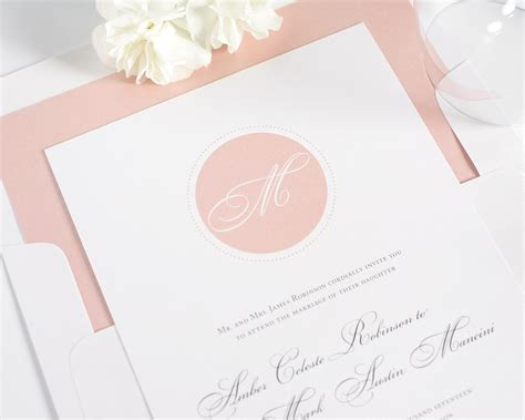 wedding invitations with monograms circle monogram wedding invitations wedding invitations by shine